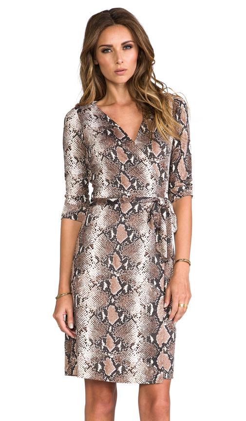 Diane von Furstenberg New Julian Two Dress in Brown