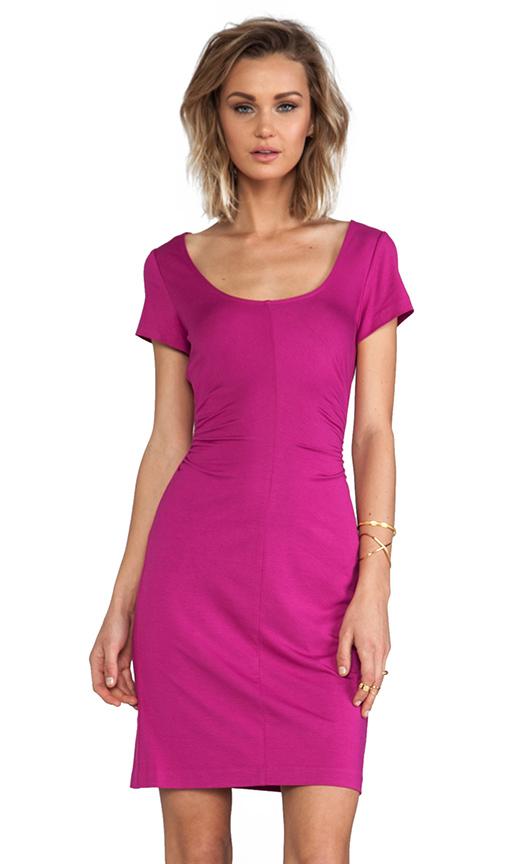 Diane von Furstenberg Bally Dress in Fuchsia