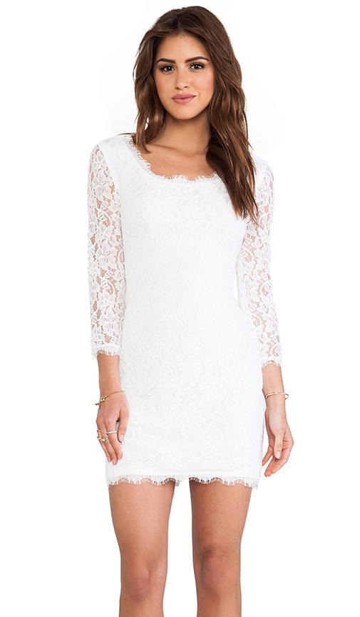 Diane von Furstenberg Zarita Scoop Dress in White