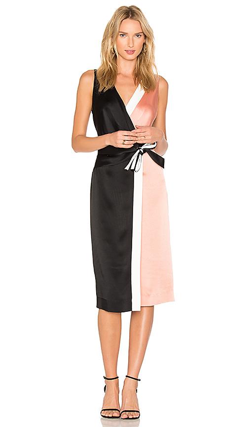Diane von Furstenberg Taped Wrap Dress in Pink. - size 0 (also in 2)