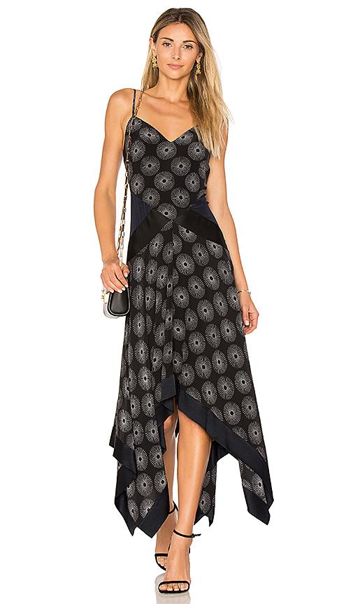 Diane von Furstenberg Scarf Hem Dress in Black