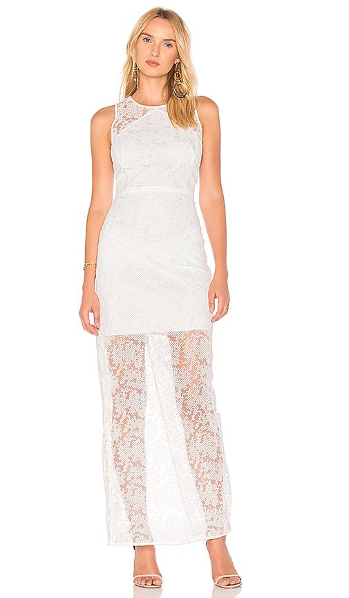 Diane von Furstenberg Paneled Overlay Gown in White