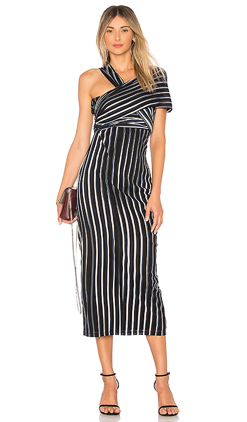 Diane von Furstenberg Structured Sash Dress in Black
