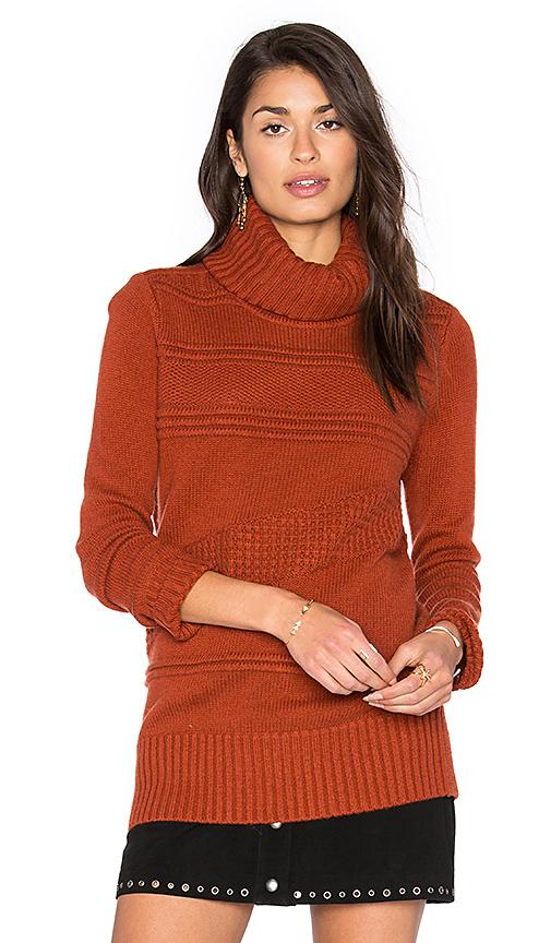 Diane von Furstenberg Talassa Turtleneck Sweater in Brick. - size M (also in S)