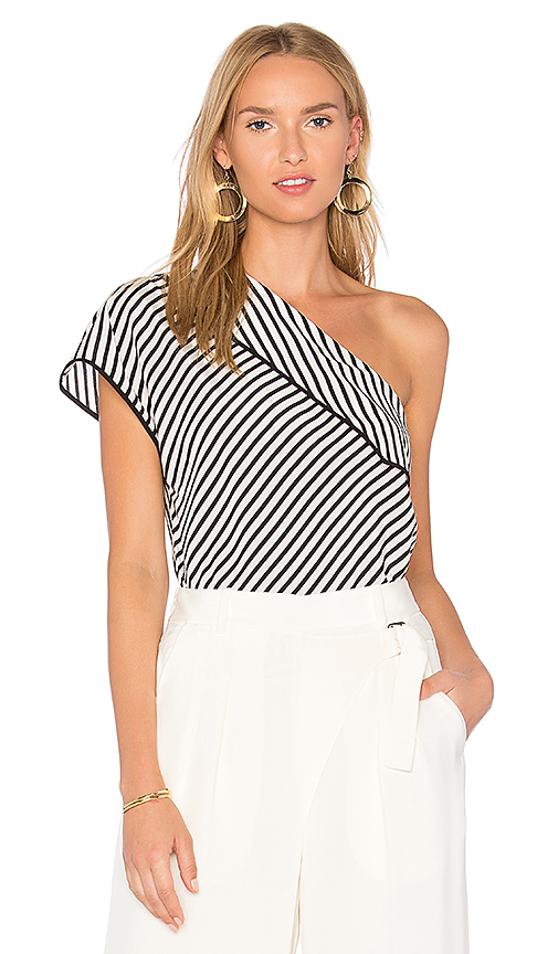 Diane von Furstenberg One Shoulder Top in White