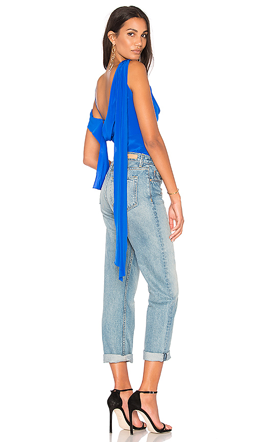 Diane von Furstenberg Shoulder Knot Top in Blue