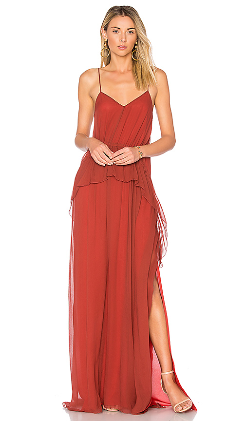 Elizabeth and James Catriona Gown in Rust