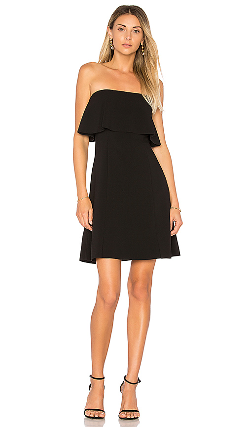 Elizabeth and James Hickory Mini Dress in Black