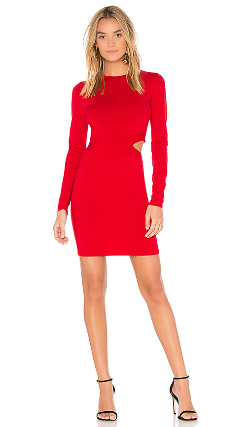 Elizabeth and James Railey Cut Out Dress in Red
