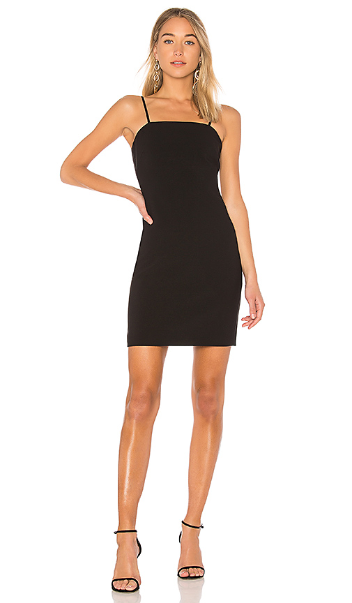 Elizabeth and James Caressa Fitted Dress in Black