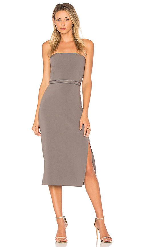 Elizabeth and James Sierra Strapless Dress in Gray