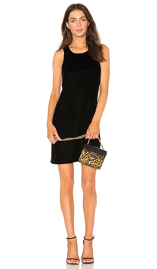 Elizabeth and James Pippin Velvet Dress in Black