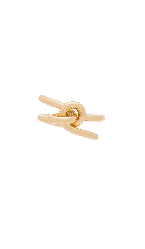 Elizabeth and James Amara Ring in Metallic Gold. - size 6 (also in 7)