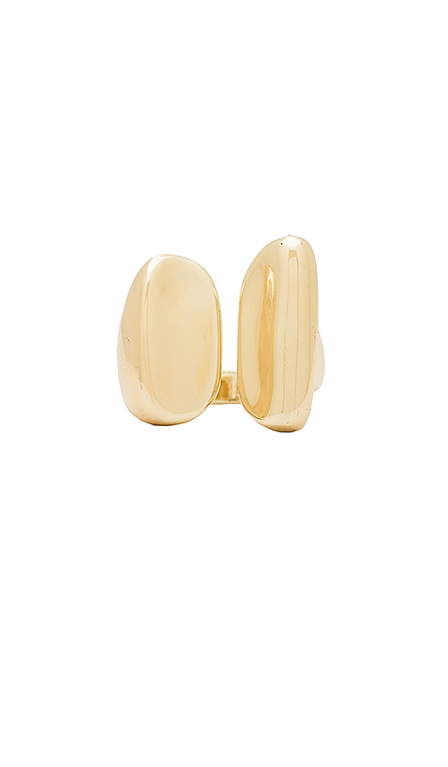 Elizabeth and James Blake Ring in Metallic Gold. - size 6 (also in 7)