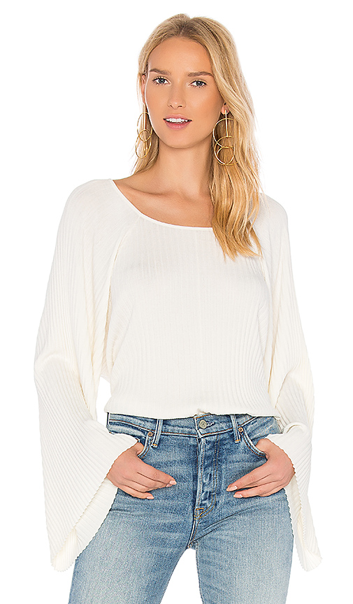 Elizabeth and James Reagan Wide Sleeve Top in White