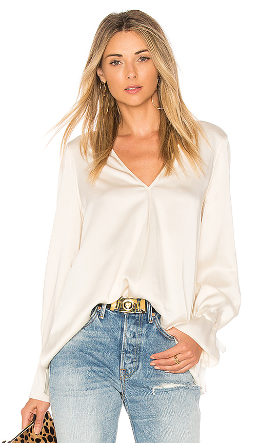 Elizabeth and James Adalina Tie Cuff Blouse in Ivory