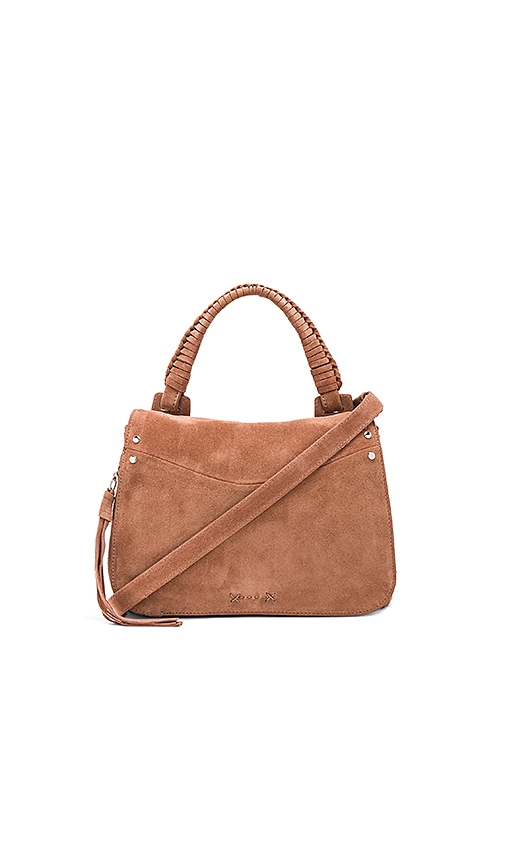 Elizabeth and James Trapeze Small Crossbody in Brown
