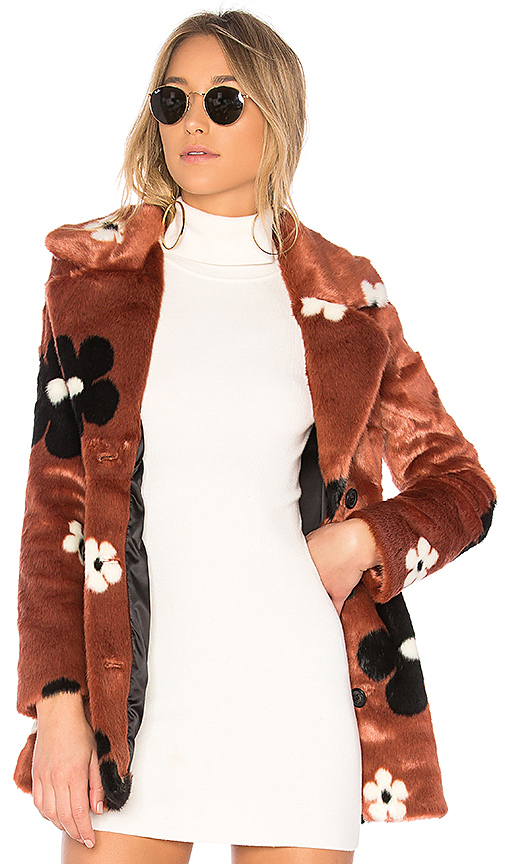 EAVES Everly Coat in Rose. - size XXS (also in M,S,XS)