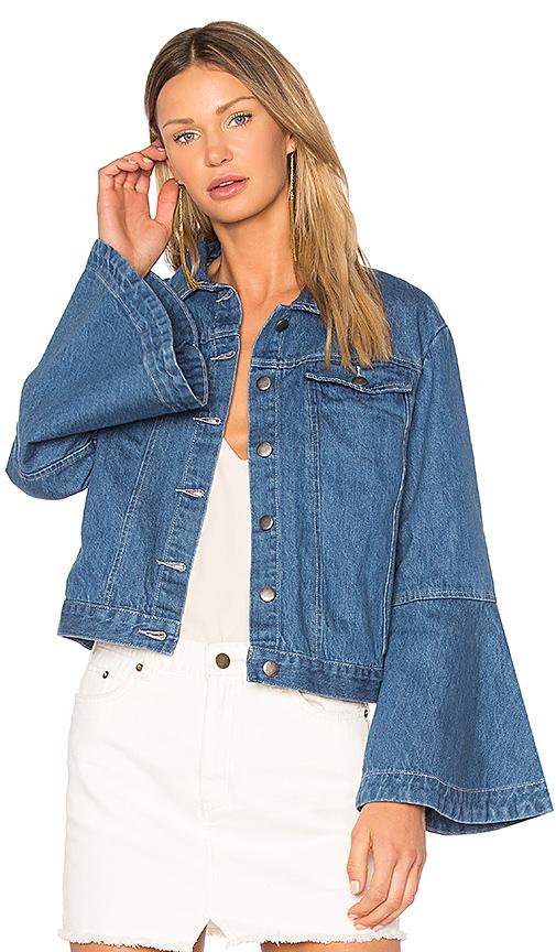 Shop EDIT Flute Sleeve Denim Jacket online jackets