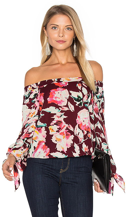 Eight Sixty Off The Shoulder Blouse in Wine