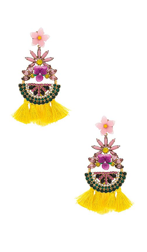 Elizabeth Cole Petite Watermelon Statement Earrings in Yellow
