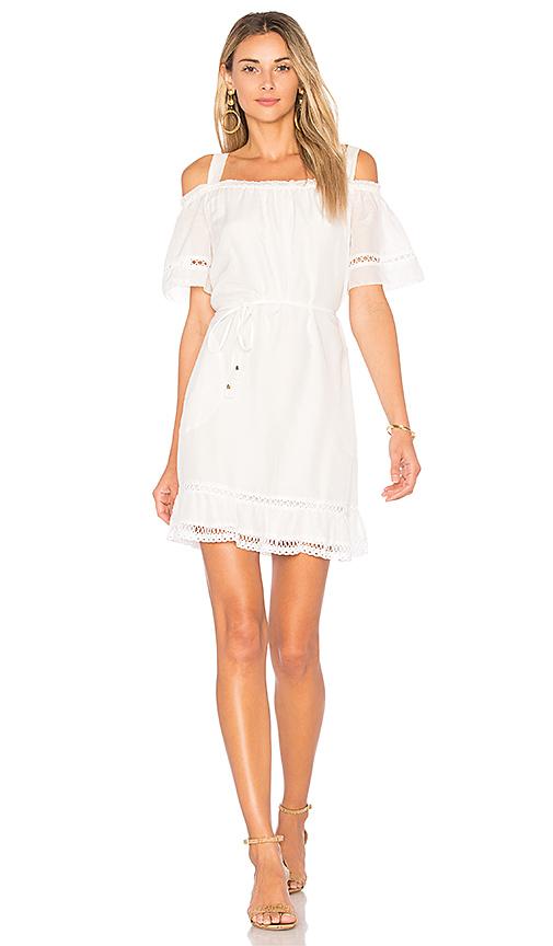 Ella Moss Brigitte Ruffle Dress in White