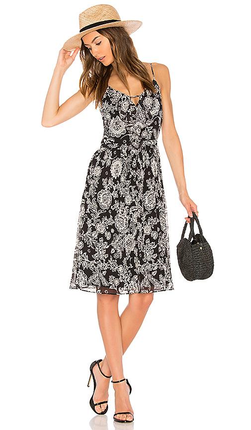 Ella Moss Ria Floral Dress in Black