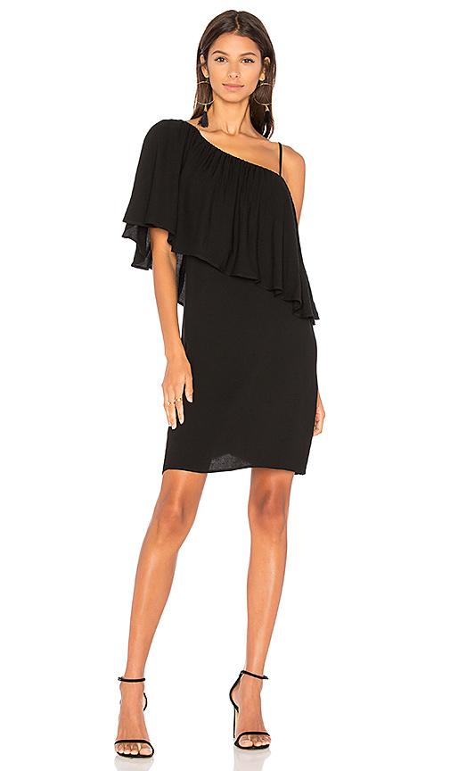 Ella Moss Stella One Shoulder Dress in Black
