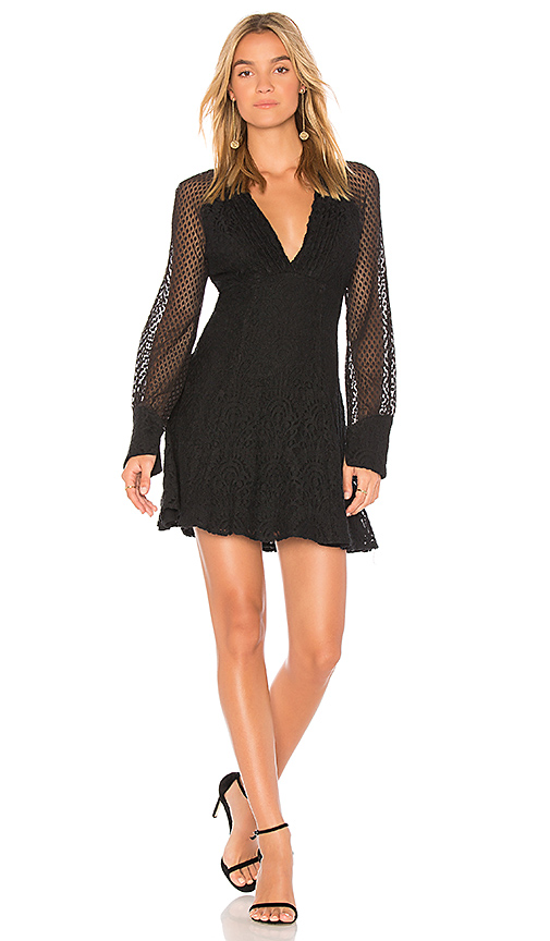 Ella Moss Lace Shift Dress in Black