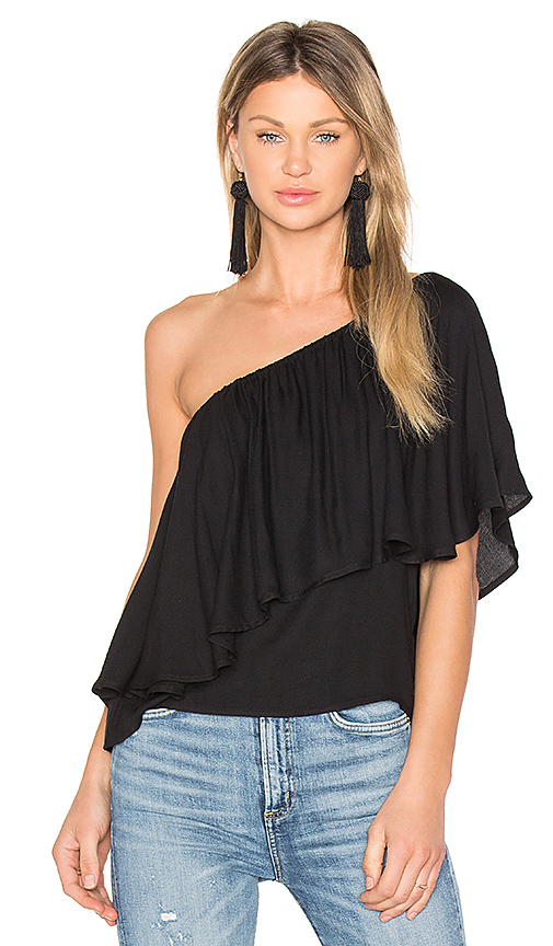 Ella Moss Stella Top in Black