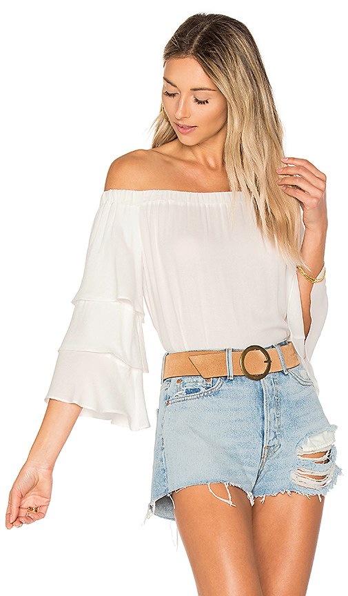 Ella Moss Stella Off Shoulder Top in White