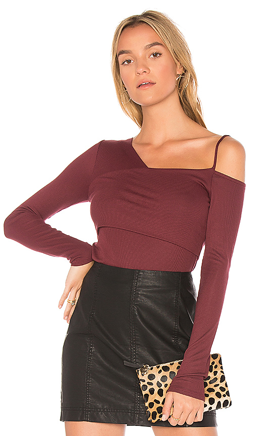 Ella Moss One Shoulder Top in Red