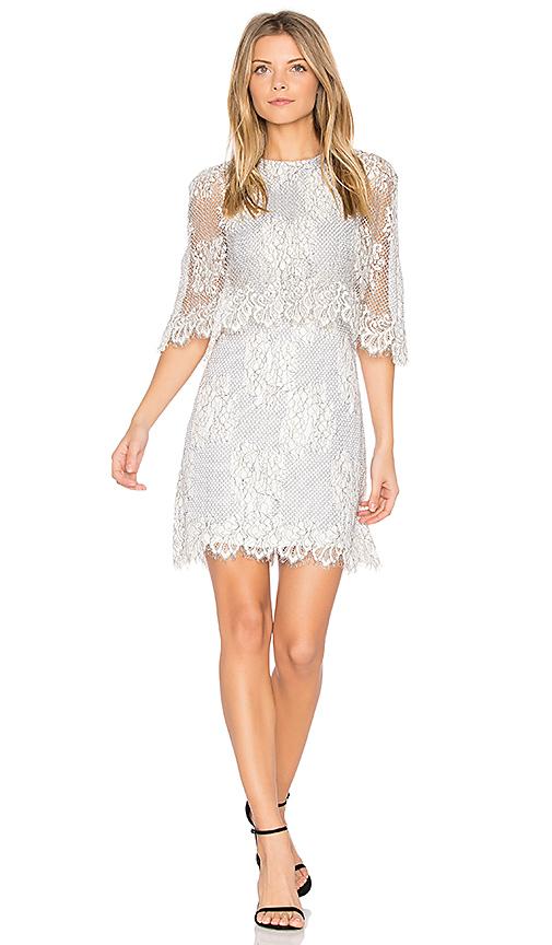 ELLIATT Reflections Cape Dress in White
