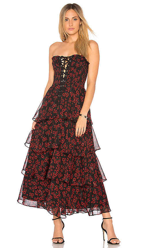Photo of Endless Rose Night Blossom Maxi Dress in Black - shop Endless Rose dresses sales