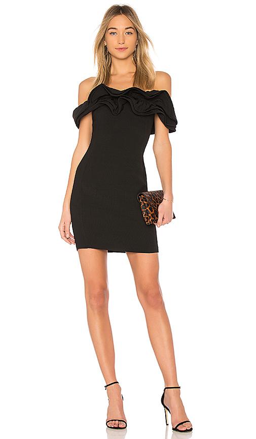 Endless Rose Off the Shoulder Dress in Black