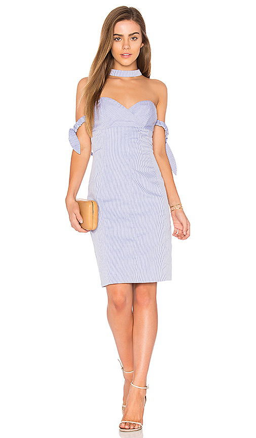 Endless Rose Off The Shoulder Mini Dress in Blue