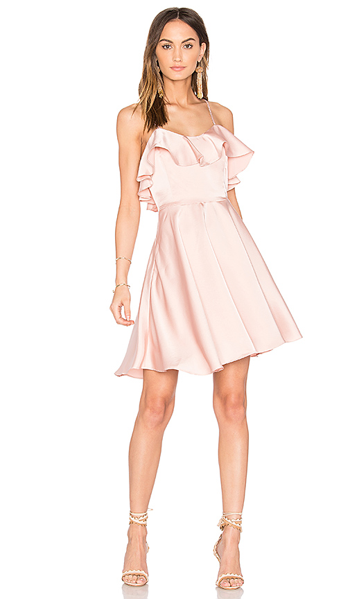 Endless Rose Ruffled Fit and Flare Dress in Pink