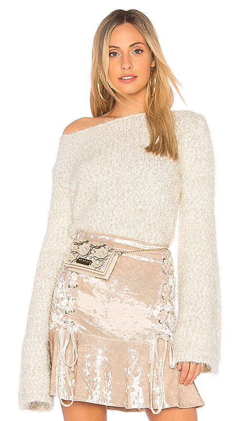 Endless Rose Cropped Sweater in Cream. - size S (also in L,M,XS)