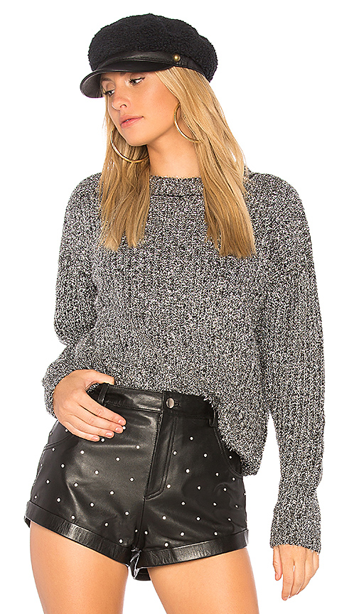 Endless Rose Sparkling Sweater in Metallic Silver. - size L (also in M,S,XS)