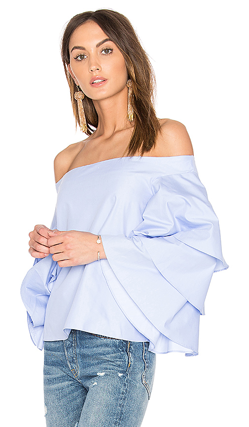 Endless Rose Tiered Top in Blue