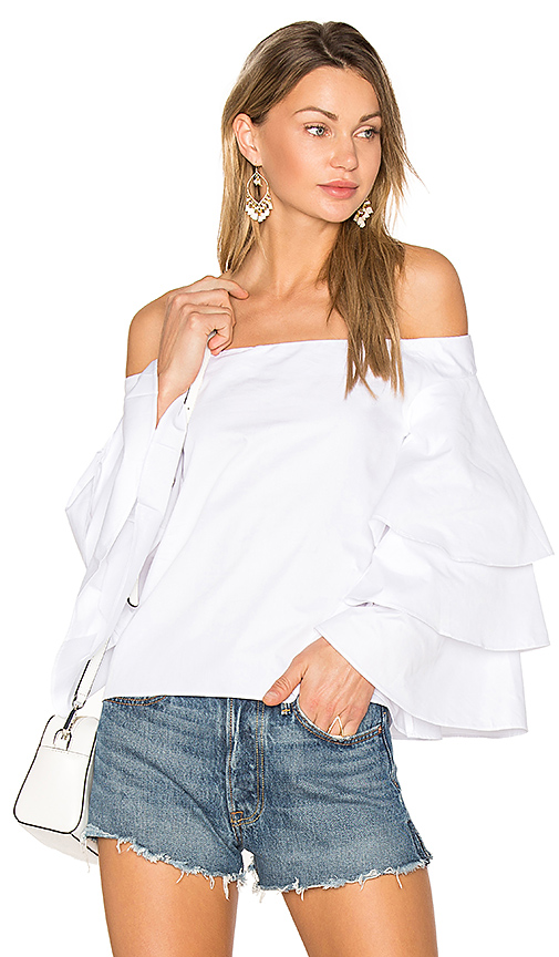 Endless Rose Tiered Top in White
