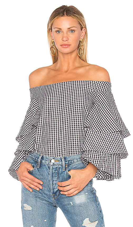 Endless Rose x REVOLVE Tiered Top in Black