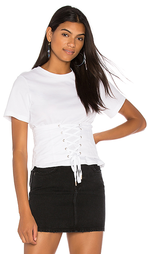 Endless Rose Corset Top in White