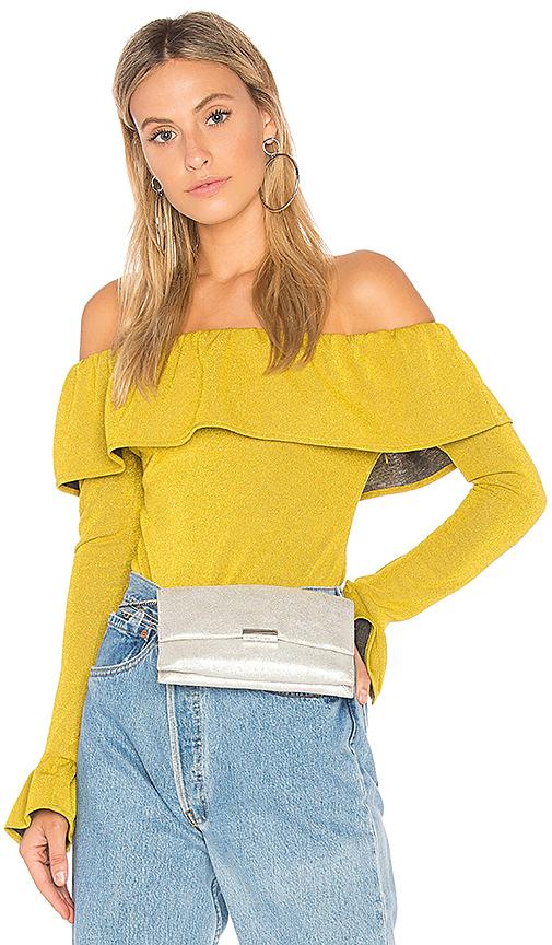 Endless Rose Ruffle Bodysuit in Yellow