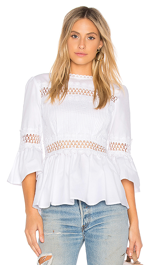 Endless Rose Pleated Blouse in White