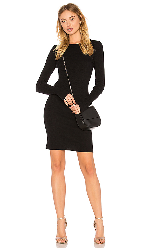 Enza Costa Cashmere Cuffed Mini Dress in Black