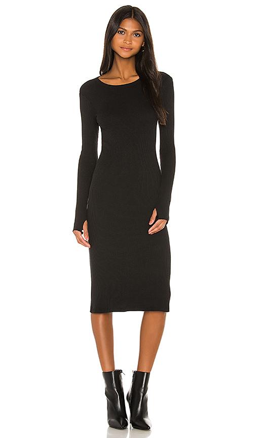 Enza Costa X Revolve Rib Midi Dress In Black
