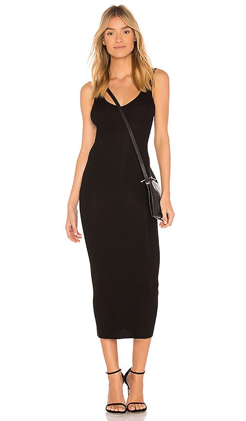 Enza Costa Rib Tank Dress in Black