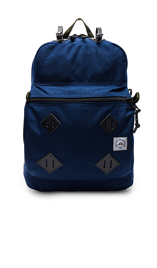 Epperson Mountaineering Leather Patch Day Pack in Navy.