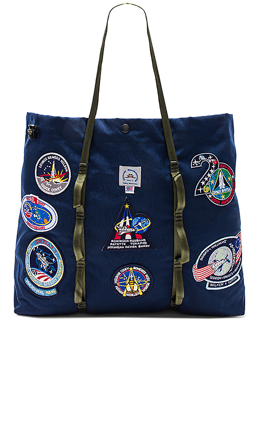 Epperson Mountaineering Vintage NASA Patch Large Tote in Navy.